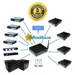 HUB с выходом в интернет с подключением исполнительных модулей